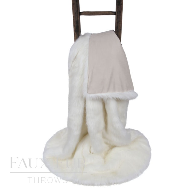 MONT BLANC Luxury Long Haired Faux Fur Bed Runner