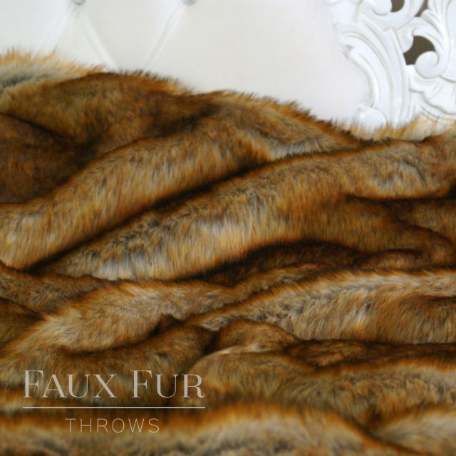 Russet Gold Faux Fur Throw – VINTAGE FOX