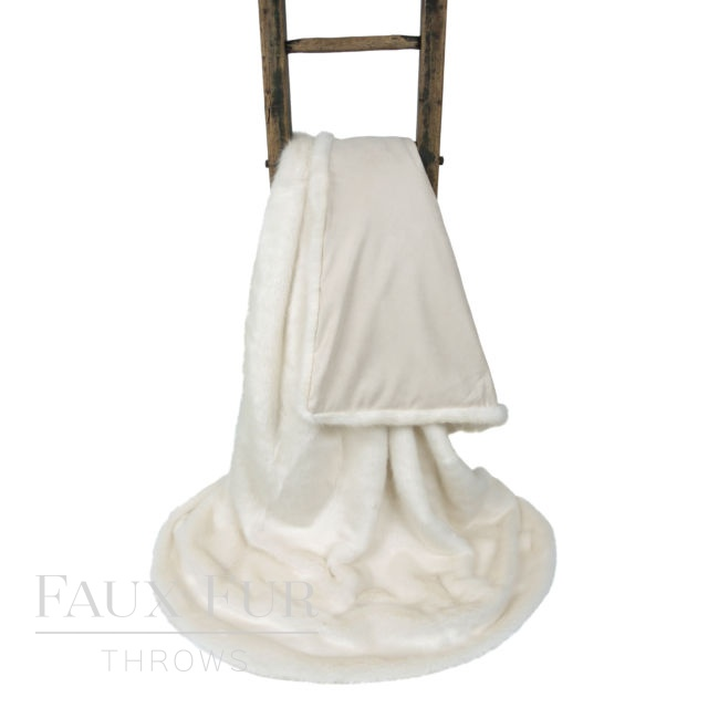 Cream White Faux Fur Throw – WINTER ERMINE