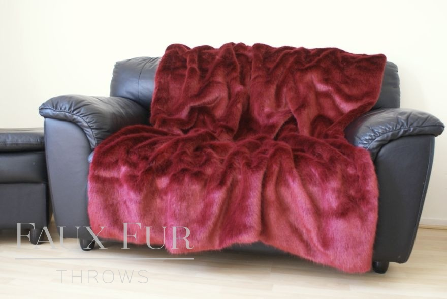 Moulin Rouge Luxury Faux Fur Throw