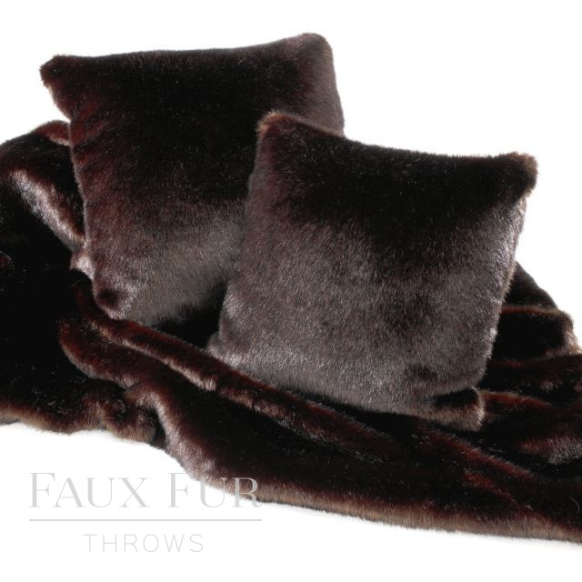 Brown Faux Fur Throw – BITTER DARK CHOCOLATE