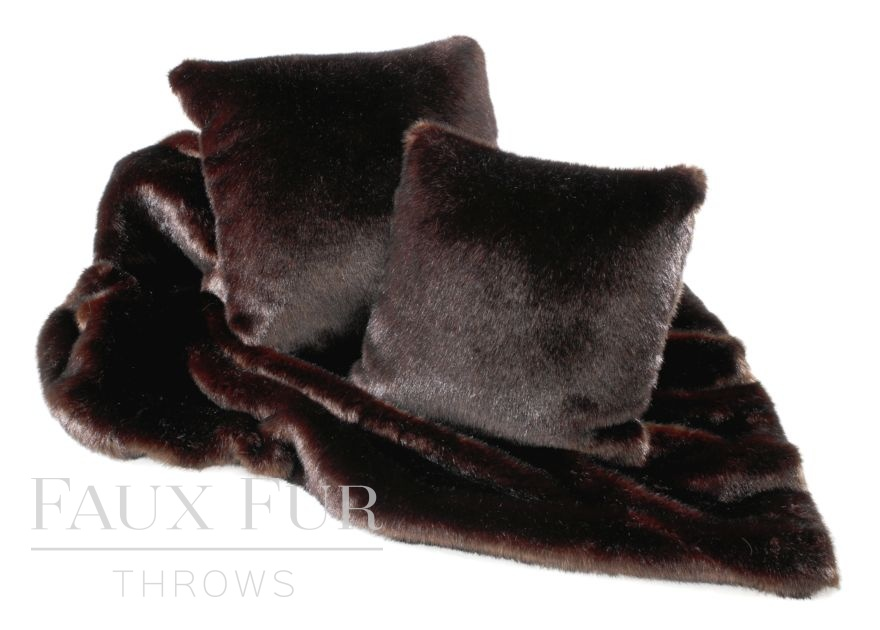 Bitter Dark Chocolate Luxury Faux Fur Throw