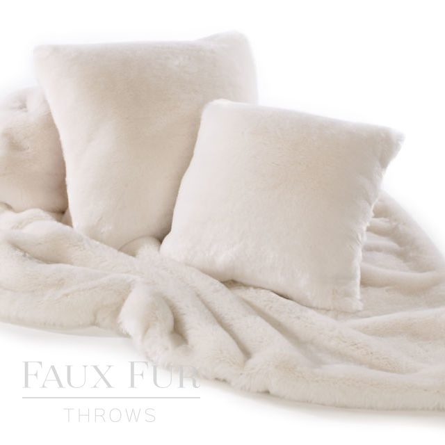 Cream White Faux Fur Throw – NORDIC CREAM PLUSH
