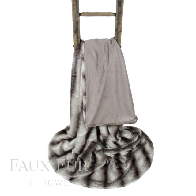 Black Silver Striped Faux Fur Throw – KENSINGTON
