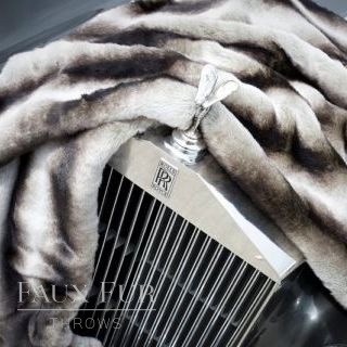 Schweitzer Luxury Faux Fur Throw