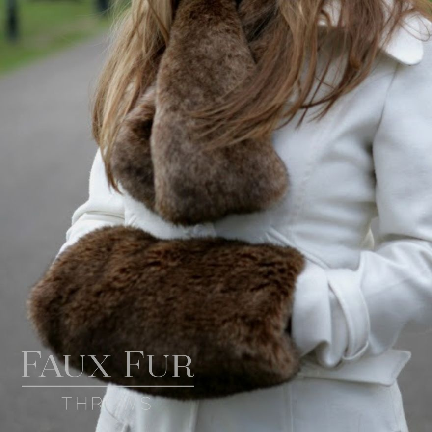 Faux Fur Muff and Tippet Scarf - Treacle