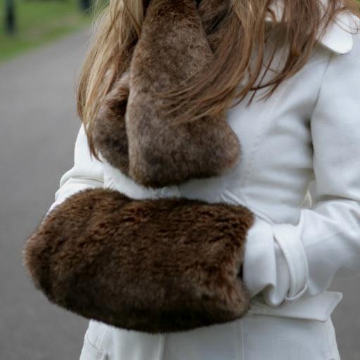 Faux Fur Muff :: Faux Fur Mitten :: Faux Fur Glove :: Faux Fur Handwarmer :: Dark Brown :: Helen ...