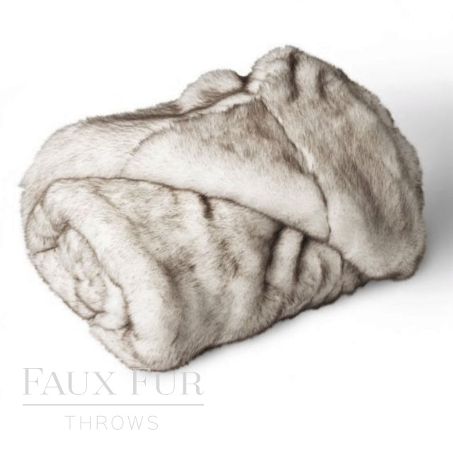 VANILLA CHOCOLATE SWIRL Luxury Faux Fur Bed Runner