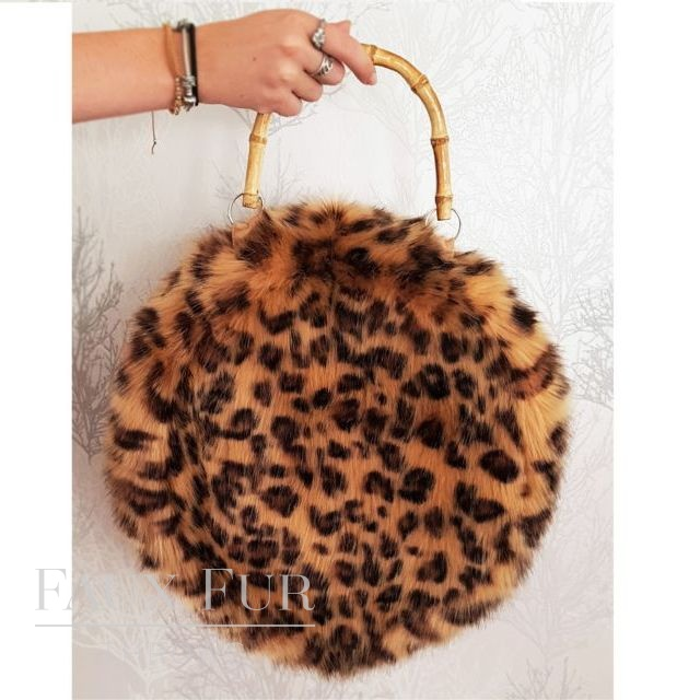 Round Faux Fur Bags